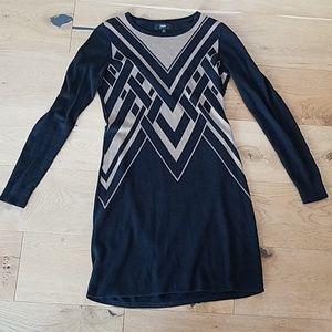 Size small black long sleeve sweater dress